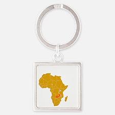 zambia1 Square Keychain