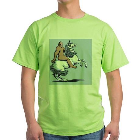bigfoot-unicorn-OV Green T-Shirt