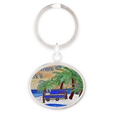 Camper Home is where we park it Oval Keychain