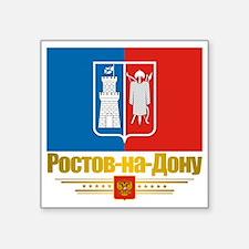 "Rostov-on-Don Flag Square Sticker 3"" x 3"""