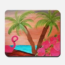 Flamingo in paradise Mousepad