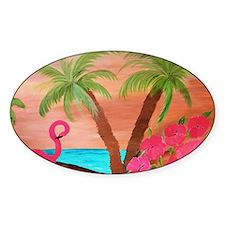 Flamingo in paradise Decal