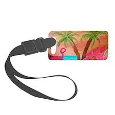 Flamingo in paradise Luggage Tag