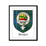 Douglas Clan Crest Tartan Framed Panel Print