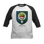 Douglas Clan Crest Tartan Kids Baseball Jersey