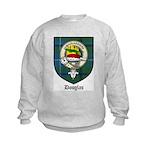 Douglas Clan Crest Tartan Kids Sweatshirt