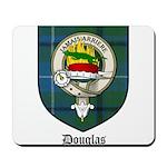 Douglas Clan Crest Tartan Mousepad