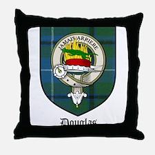 Douglas Clan Crest Tartan Throw Pillow