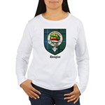 Douglas Clan Crest Tartan Women's Long Sleeve T-Sh