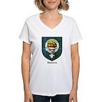 Douglas Clan Crest Tartan Women's V-Neck T-Shirt