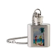 Beach Babes Flask Necklace