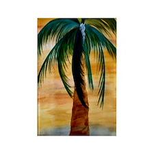 Golden Palm Rectangle Magnet