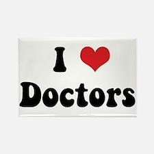 I Love Doctors Rectangle Magnet