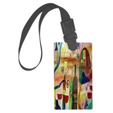 Wine Time Luggage Tag