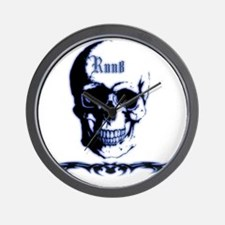 Skull Run8 Wall Clock