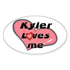 kyler loves me Oval Decal