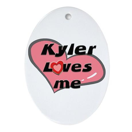 kyler loves me Oval Ornament
