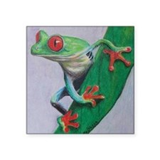 "Coqui Frog Square Sticker 3"" x 3"""