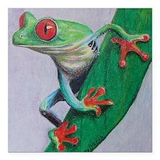 "Coqui Frog Square Car Magnet 3"" x 3"""
