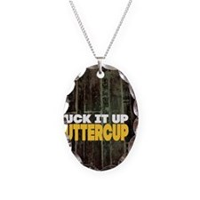 Suck it Up Buttercup Poster Necklace