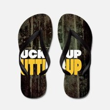 Suck it Up Buttercup Poster Flip Flops