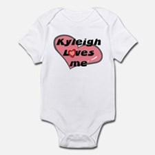 kyleigh loves me  Infant Bodysuit