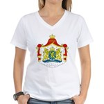 Netherlands Coat of Arms Women's V-Neck T-Shirt