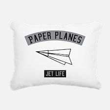 PAPER PLANES Rectangular Canvas Pillow