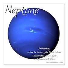"""Neptune Square Car Magnet 3"""" x 3"""""""