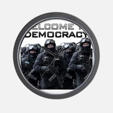 Welcome To Democracy Wall Clock