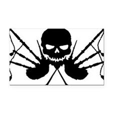Skull and Pipes Rectangle Car Magnet