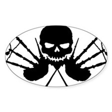 Skull and Pipes Decal