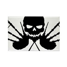 Skull and Pipes Rectangle Magnet
