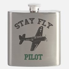 STAY FLY PILOT Flask