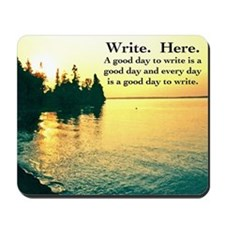 Write. Here. Mousepad