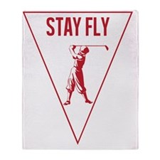 STAY FLY GOLF [RED] Throw Blanket