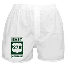 East 27A Montauk Green Boxer Shorts