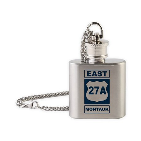 East 27A Montauk Blue Flask Necklace