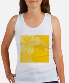 Hibiscus Yellow Wine Label Women's Tank Top