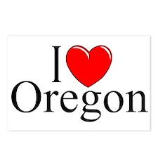 """""""I Love Oregon"""" Postcards (Package of 8)"""
