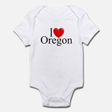 """I Love Oregon"" Infant Bodysuit"