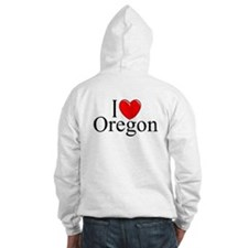 """I Love Oregon"" Hoodie"