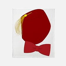 Klint Fez  Bowtie logo Throw Blanket
