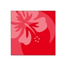 """Hibiscus Red Balloon Square Sticker 3"""" x 3"""""""
