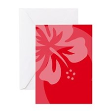 Hibiscus Red Balloon Greeting Card
