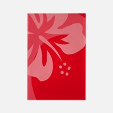 Hibiscus Red Balloon Rectangle Magnet