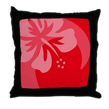 Hibiscus Red Balloon Throw Pillow