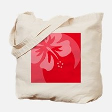 Hibiscus Red Balloon Tote Bag