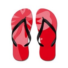 Hibiscus Red Balloon Flip Flops