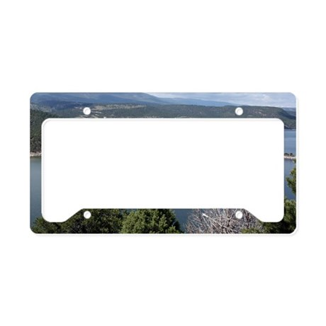 Flaming Gorge by the Dam License Plate Holder